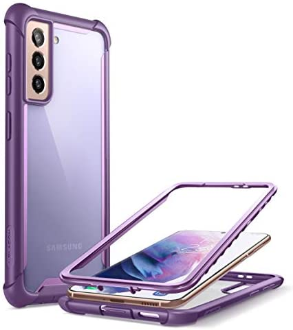 i-Blason Ares Series Case Designed for Galaxy S21 Plus 5G (2021 Release), Rugged Clear Bumper Case Without Built-in Screen Protector (Purple)