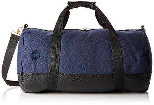 Mediados-Pac oro Duffel bolsa de viaje bolsa, 50 cm, 30 litros, azul (patente Navy) Canvas Nav/Blk