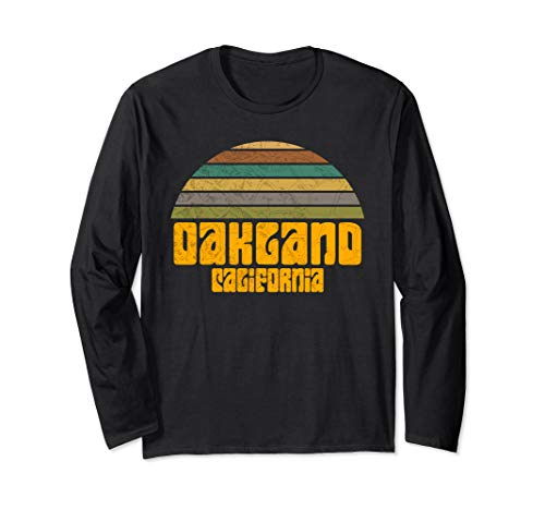 BACK TO SCHOOL VINTAGE 70s 80s STYLE OAKLAND CA Distressed  Long Sleeve T-Shirt