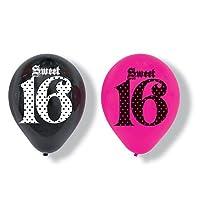 Super Stylish Sweet Sixteen Balloons