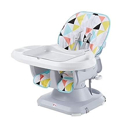 Multi Fisher-Price SpaceSaver High Chair Pacific Pebble Infant-to-Toddler Dining Chair