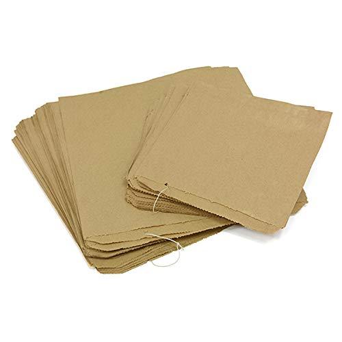 Sabco - 100 Bolsas de Papel Kraft marrón para Alimentos ...