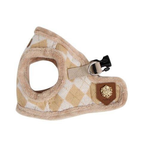 Puppia Authentic Argyle Mode Harness B, Medium, Beige, My Pet Supplies
