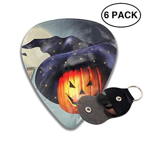 Celluloid Guitar Picks 3D Printed Halloween Pumpkin Happy Best Guitar Bass Gift for Gril