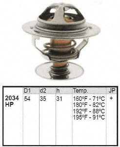 Motorad 2034-180 Engine Coolant Thermostat