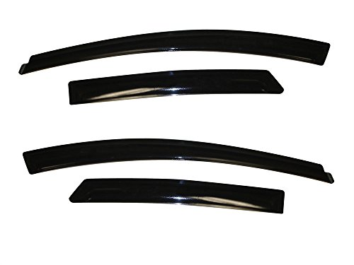 (Auto Ventshade 94373 Original Ventvisor Side Window Deflector Dark Smoke, 4-Piece Set for 2012-2018 Ford Focus)
