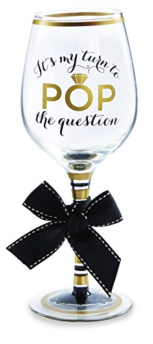 Mud Pie Question Wine Glass product image