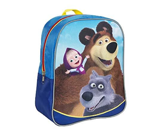 [RusToyShop] average Preschool Backpack Masha and the Bear, Baby Bag, Small Backpack Kids, Bag Girl Cute Backpack Kindergarten for Baby, Gray, Little Girl, Pink (Masha And The Bear English Full Episodes)