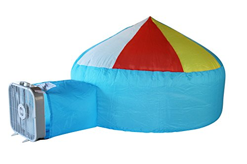 build an inflatable fun kid's air fort - airfort inflates in seconds. the easy play tent for kids of all ages! beach ball blue