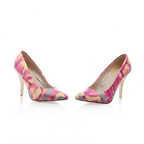 Charme Pied Mode Femmes Mary Jane Talon Haut Pompes Chaussures Rose