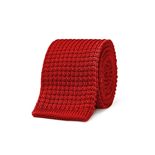 Dedra Knit Tie - Red by Cremieux