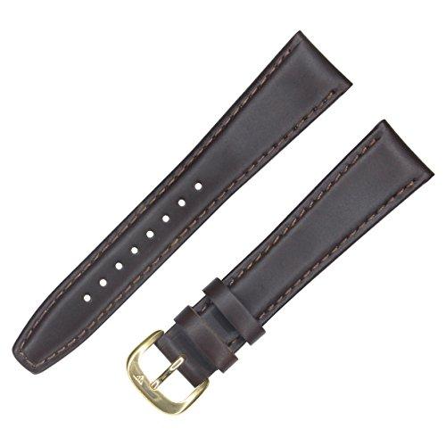 Dakota 60249 Oiled Tanned Genuine Leather, Semi pad Watch Band, Brown (8mm, 13mm, 14mm, 16mm, 18mm, 20mm, 22mm, 24mm, 26mm, 28mm) - 13 Mm Pad