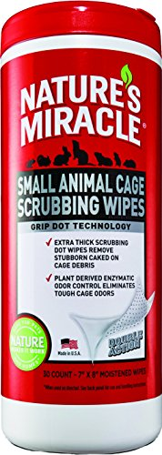 natures-miracle-30-count-small-animal-cage-scrubbing-wipes