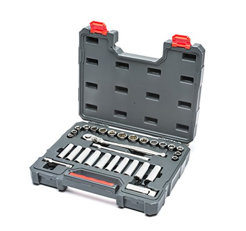 Crescent CTK30SETN 3/8' Drive Socket Wrench Set, Standard & Deep, SAE &...