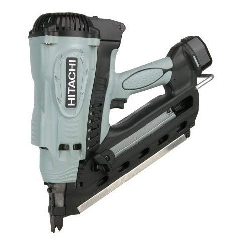 Hitachi NR90GC2 2-Inch to 3-1/2-Inch Clipped Head Cordless Gas Framing ()
