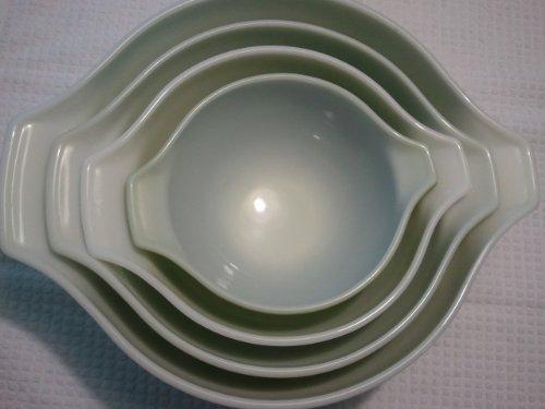 Vintage Four (4) Pyrex Cinderella Bowls Ovenware #441,442, 443, 444