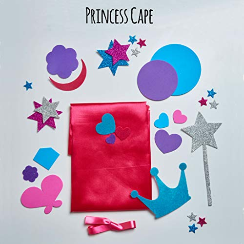 jackinthebox Princess Themed Arts and Crafts for Girls | Make a Cape, Tiara and Wand | Best Gift for Girls Ages 4 5 6 7…