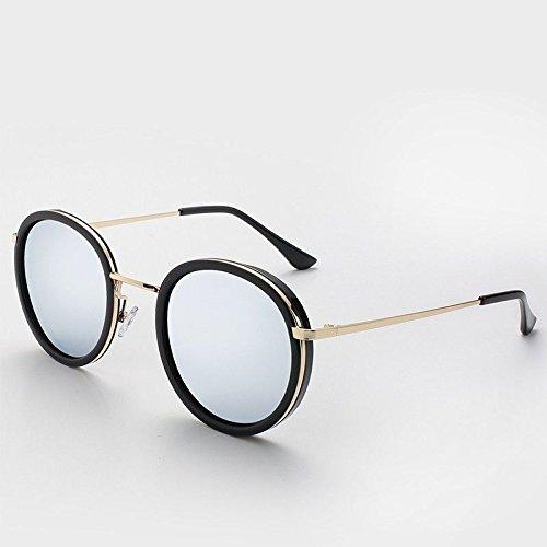 Girl Polarisées de Silver en TL Ronde Les Soleil Metal Lunettes Femmes Sunglasses Lunettes de Y7wBg