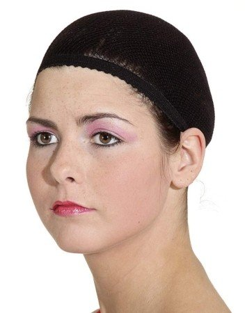 Perückenkappe: Haarnetz für Perücken, Farbe:schwarz