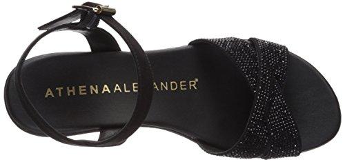 Athena Alexander Womens Florence Wedge Sandal Black EZq14FO