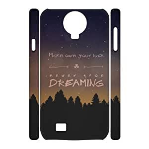 3D Make Your Own Luck Samsung Galaxy S4 Cases For Girls, Samsung Galaxy S4 Case For Women [White]
