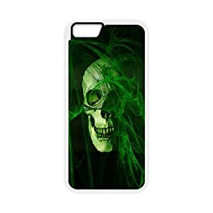 Skull iPhone 6 Plus 5.5 Inch Cell Phone Case White R3341811