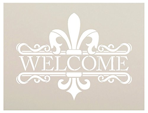 Elegant Fleur De Lis Stencil by StudioR12 | Reusable Mylar Template | Use to Paint Wood Signs - Pallets - Welcome Signs - DIY French Home Decor - Select Size (13