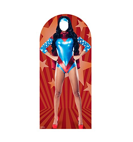Woman Super Hero Stand-In - Advanced Graphics Life Size Cardboard Standup ()