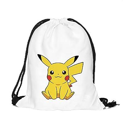 cheap Orlesp Original Shoulder Bag Pumping Rope Backpack Pokemon Go! Pattern Printed Bundle Mouth Single Pocket