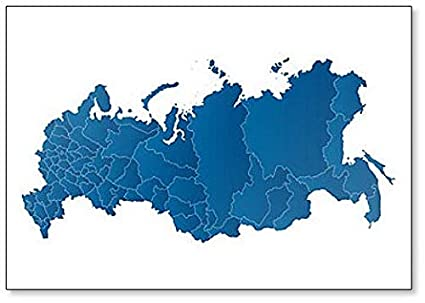 Amazon.com: Map Of The Russian Federation Classic Fridge Magnet ...