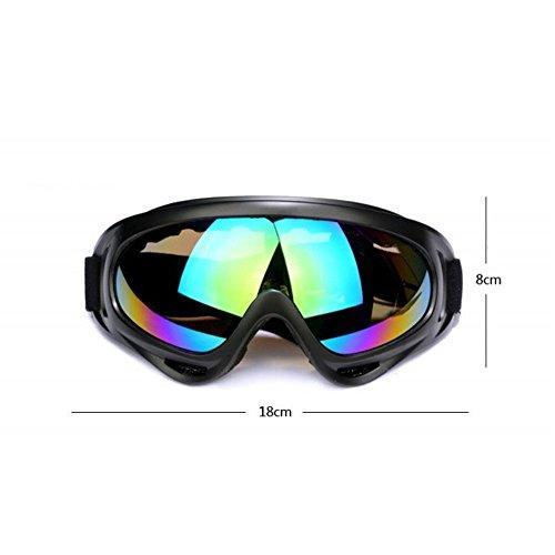 Occhiali protettivi da esterno, con protezione UV, per sport acquatici, sci, tattica militare, antivento, per bicicletta, moto, Yellow
