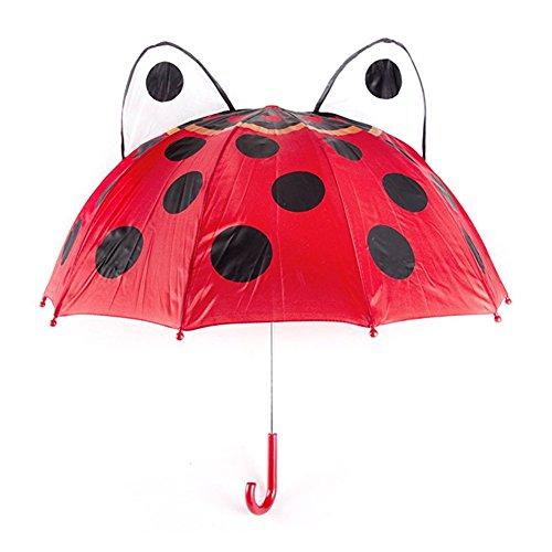 (Unetox Children's Ladybug Umbrella Novelty Rainy Day Umbrella Full Size 18