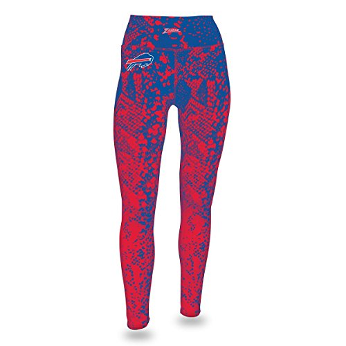 Zubaz NFL Buffalo Bills Women's Gradient Print Team Logo Leggings, X-Large, Blue/Red