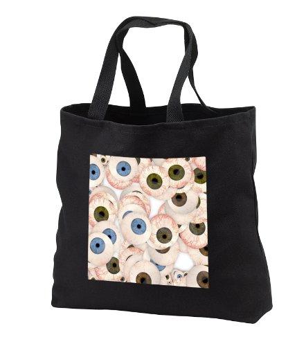 Sandy Mertens Halloween Designs - Eyeball Collection - Tote Bags - Black Tote Bag JUMBO 20w x 15h x 5d (tb_53735_3) -