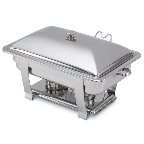 Orion Oblong Mirror Finish S/S Complete Lift-Off Chafer, 9 Qt ()