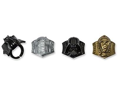 DecoPac Star Wars Darth Vader, C3P0 R2D2 Cupcake Rings, 12 pieces