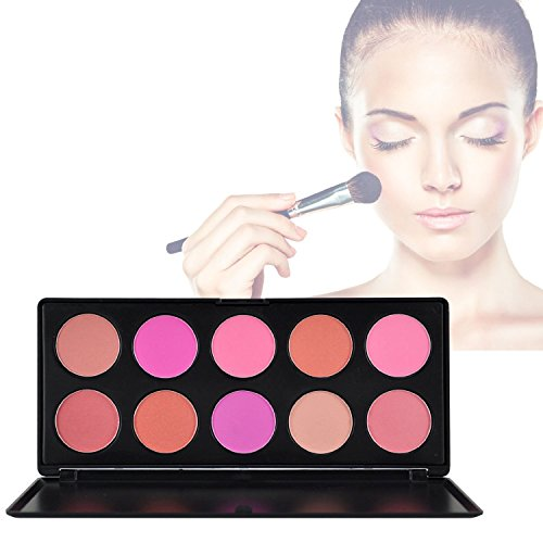 10 Colors Professional Makeup Cosmetic Blush Blusher Palette - 7