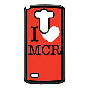 I Love MCR 01 Black Hard Plastic Case for LG G3 by textGuy + FREE Crystal Clear Screen Protector