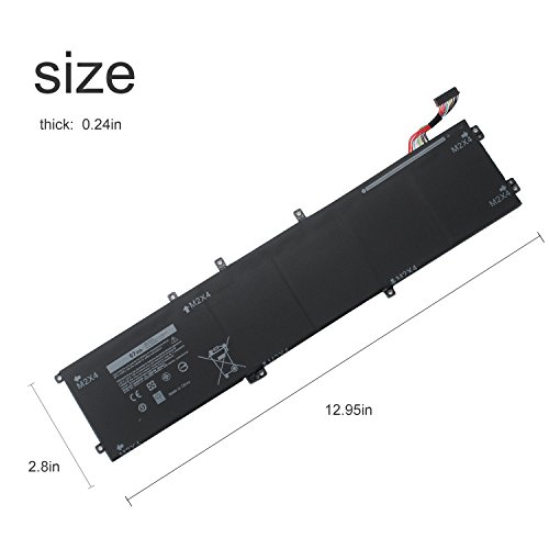 SWEALEER Compatible 6GTPY Battery if Applicable Dell XPS 15 9560 9550 Precision 5510 5520 M5520 Replacement for 5XJ28 i7-7700HQ 5D91C Laptop [Li-ion 6 Cell 11.4V 97Wh 18 Months Warranty 6GTPY] by SWEALEER (Image #4)