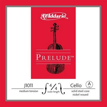D'Addario Prelude Cello Single A String, 4/4 Scale, Medium Tension