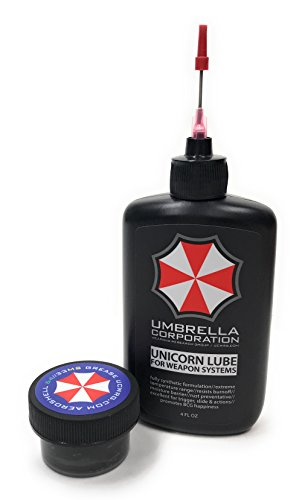 Umbrella Corporation Unicorn Lube Gun Oil Plus .5oz Jar Aeroshell 33MS / 64 Grease (4oz Oil + .5oz Grease)