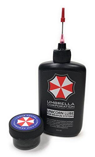 Umbrella Corporation Unicorn Lube Gun Oil Plus .5oz Jar Aeroshell 33MS / 64 Grease (4oz Oil + .5oz Grease) (Best Gun Lube And Cleaner For Ar 15)