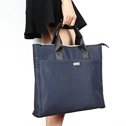 Portable Professional Briefcase Bags B4 Size Office School Meeting Envelope Expanding File Folder Laptop Bag Travel Portfolio Document Papers Holder Container Organizer Zipped Carrying Handbag Tote ()