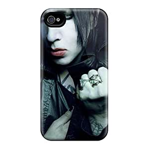 Scratch Protection Hard Cell-phone Cases For Apple Iphone 4/4s (TiD13726snto) Allow Personal Design Trendy Marilyn Manson Band Series