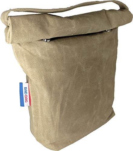 (Waxed Canvas Lunch Bag (Lunch Box) | Removable Insulated Liner | Canvas Handle | Magnetic Buttons | Washable | Durable | Eco-Friendly | Reusable | for Men, Women & Children)