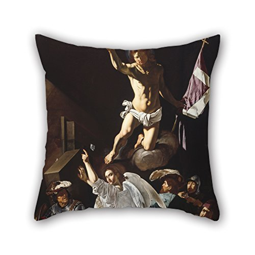 Oil Painting Francesco Buoneri, Called Cecco Del Caravaggio - The Resurrection Throw Pillow Covers Best for Divan Bedding Teens Girls Her Kids Boys Floor 16 X 16 Inches / 40 by 40 cm(Double Sides) ()