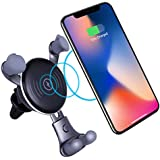Wireless Charger,TaoTens Cell Phones Accessories Car Mount, Air Vent Phone Holder 10W Charge for Samsung Galaxy S8, S7/S7 Edge, Note 8 5 and 5W Standard Charge for iPhone X, 8/8 Plus