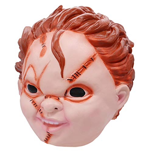 2019 Child's Play Chucky Latex Mask Halloween Costume Prop Crazy Killer (A. Chucky Latex Mask)
