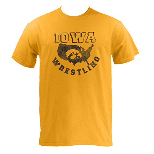 Iowa USA Wrestling Hawkeyes T-Shirt - 2X-Large - Gold