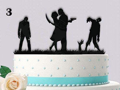 Zombie Love Scene Part 2 Wedding Cake Topper ()